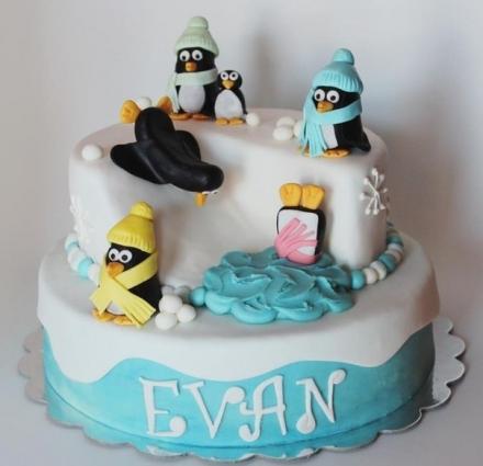 Tortas pingvinai