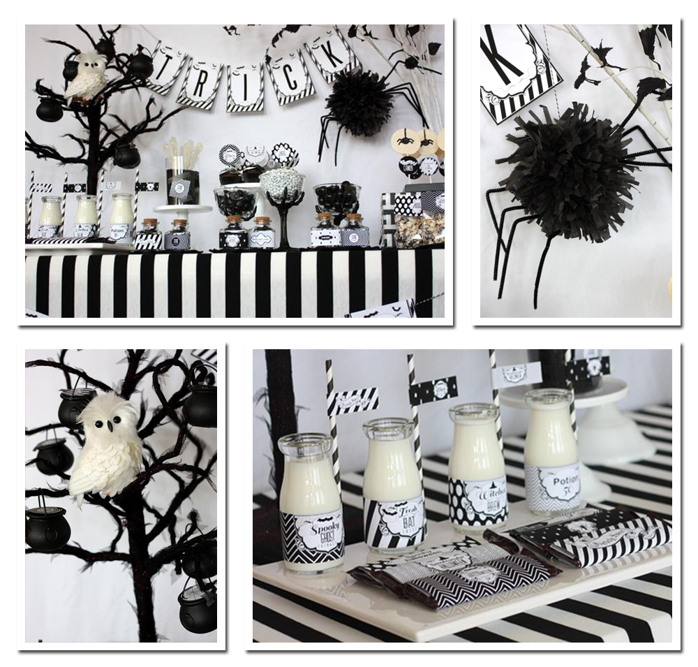 Pics photos decorations on black and white party for a - Black and white decor pictures ...