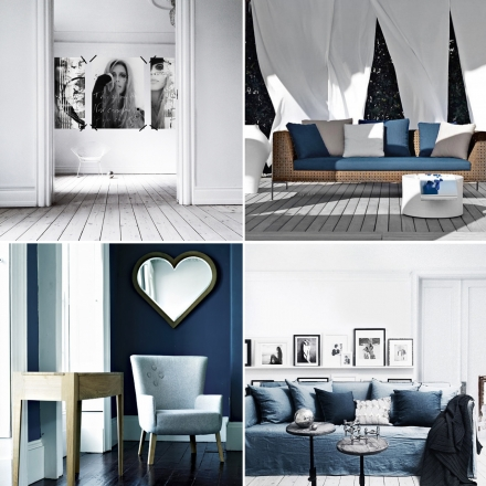 Baltai mėlyni namai